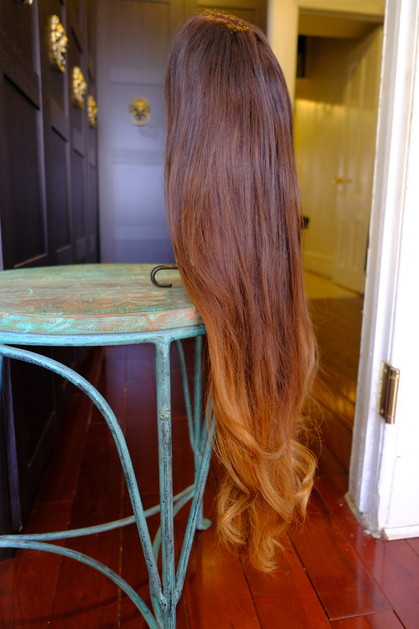 New by Hadiiya Barbel. 29″ 100% Remy Hair Wig, Full Lace Cap + Custom Ombre Color w/ baby hairs